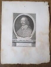 Eau forte, Jules Mazarin, Cardinal et évêque de Metz, à 59 ans, E.J Desrochers