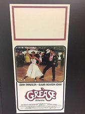 Grease John Travolta locandina cm. 33x70 ristampa digitale tiratura limitata