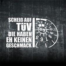 1x SCHEIß AUF TÜV Aufkleber  Oldschool Sticker Rat Auto Folie Fun Spaß 158