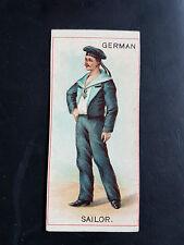 COPE BROS 1898 cigarette tobacco card UNIFORMS - GERMAN SAILOR