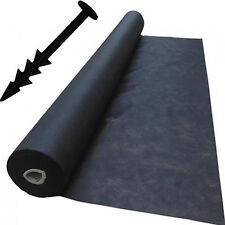 1m x 20m Weed Control Landscape Fabric Membrane Mulch Ground Cover + 20 Pegs
