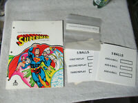 SUPERMAN COLOR COVER WITH INSERTS ATARI PINBALL      arcade game manual