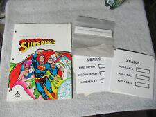 SUPERMAN COLOR COVER WITH INSERTS ATARI PINBALL      arcade game manual