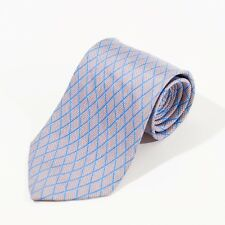 ST DuPont Grey Geometric Patterned Silk Tie 5323