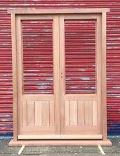 Solid Hardwood French Doors hung in Hardwood frame - Made to measure! Bespoke!