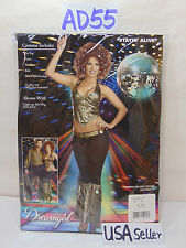 NEW COSPLAY OUTFIT WOMENS ADULT XS DREAM-GIRL STAYIN ALIVE DISCO 85-90 LB