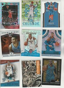 RUSSELL WESTBROOK LOT (106) DIFFERENT W/ 59 INSERTS PRIZM CAMO PULSAR PARALLELS
