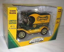 CRAYOLA GEARBOX 1912  MODEL T DELIVERY CAR COIN BANK # 3 IN SERIES