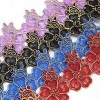 1 Yard 4cm Lace Floral Trim Edging DIY Wedding Decor Ribbon Iron Sewing Crafts
