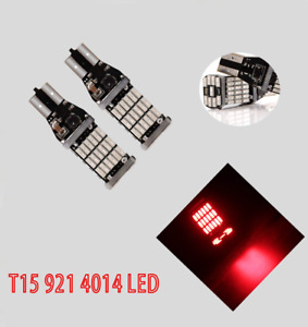 T10 T15 W5W 168 194 921 2825 12961 Red 45 LED Bulb Reverse Backup Canbus B1 12