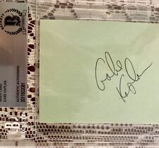 GABE KAPLAN Kotter Autographed Signed Index Card Beckett Authentic BGS Slabbed