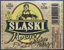 Poland Brewery Lwówek Śląski Mocne Beer Label Bieretikett Cerveza ls132.3