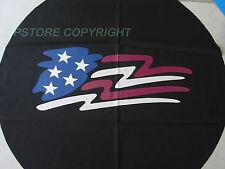 "Popup Camper SPARE TIRE COVER 12"" - 14 rim American Flag"