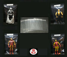 """Acid-Free Archival Action Figure Bags Perfect for 6"""" Star Wars Black LOTR TMNT"""