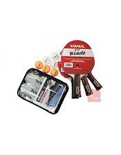 Karakal 4 Bat Table Tennis Set 6 Balls & Net Posts Ready To Play Match Set