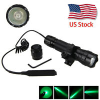 Powerful LED Green Hunting Light Tactical Flashlight Torch Lamp Shooting sight A