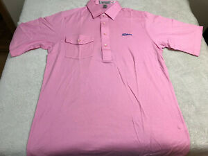 Titleist Golf Shirt Men's Large Pink Embroidered Blue Logo 52/48 NEW