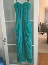 Jamais porté LAUNDRY by Shelli Segal US 2 UK 6 Silk Prom soirée robe longue robe