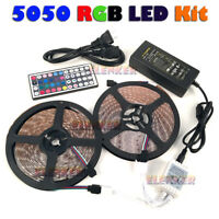 3528 5050 5M 10M RGB SMD 300 Led Waterproof Tape Roll Strip Light 12V Waterproof