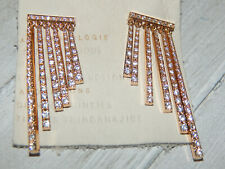 EARRINGS ANTHROPOLOGIE DANGLE RHINESTONE STICKS SPARKLY POST NEW TAG $68