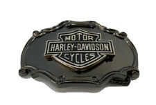 Vintage 70s Harley Davidson Biker Belt Buckle Raintree Brass Shield And Bar