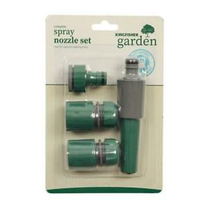New Hose Pipe Fittings Nozzle Connector Water Spray Gun Set Outdoor Garden use