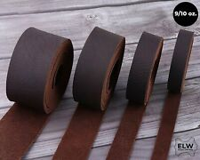 """ELW Brown Tooling Leather Straps 1/2"""" to 4"""" Wide, 68-72 Inches Long 9/10 oz..."""