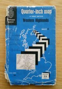 Western Highlands Sheet 4 Ordnance Survey Map -1961