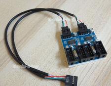 9 Pin USB Header Male 1 to 4 Female Extension Splitter 9p Port Multiplier 1 ft