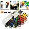 42 Colors Portable Whirl Solid Watercolor Pigment Paint Set With Water Brush
