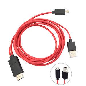 MHL Micro USB zu HDMI 1080p HD TV Kabel Adapter für Android Samsung Phone