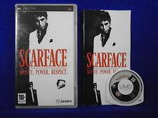 psp SCARFACE Money. Power. Respect. Playstation PAL ENGLISH UK Version