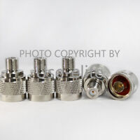 5x N Male Plug to F Female Jack RF Coax Connector Adapter Converter Straight