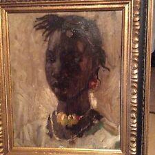 Raymond TELLIER 1897 1985 FEMME AFRICAINE Médaille d'or en 1931