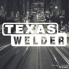Texas Welder Welding Decal Vinyl Sticker Electric Arc Stick Dc Tig Mig