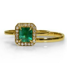 Colombian Emerald Diamond ring  and band Certified NCJV FGAA RRV:$4400