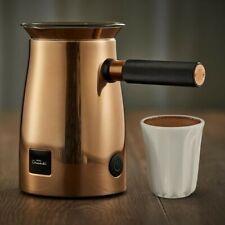 Hotel Chocolat HC01 Velvetiser Hot Chocolate Machine Copperand two cups