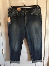 NWT SILVER Avery Skinny Crop Capri Jeans Womens Plus Size 22