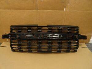 2019 2020 2021 Chevrolet Silverado LTZ 1500 OEM Upper Black GRILLE p/n 23388715