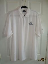 "Nike Golf Gray Dri-Fit White ""Infiniti"" Car Poly/Spandex Polo Shirt XL EUC"