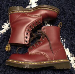 NWOB Ox Blood Red Doc Marten 1460 Boots 8 Eye Size UK 5 US Men 6 US Women 7