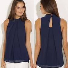 Moda Mujer Verano Top sin mangas Camisa Blusa Informal Camisetas de tirantes