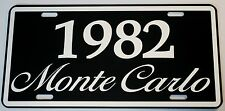 1982 82 MONTE CARLO METAL LICENSE PLATE 350 400 454 SS LOWRIDER NASCAR CHEVY