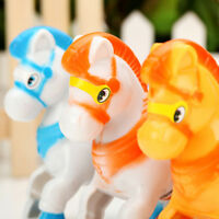 WindUp Animal Running Moving Horse ClassicClockwork Plastic Kid Toy Gift UP