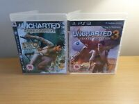 PLAYSTATION 3 - UNCHARTED GAME BUNDLE - DRAKES DECEPTION & DRAKES FORTUNE