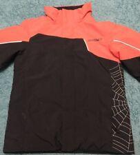 Spyder Boys Size 10 Ski Winter Jacket Coat Red Black