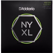 D'ADDARIO NYXL45125 NICKEL PLATED STEEL BASS STRINGS, light/medium 5's - 45-125
