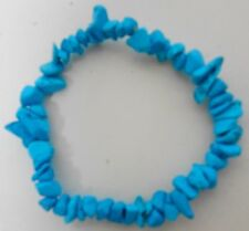 Turquoise nugget Bracelet stretchable no clasps one size fits ALL unisex