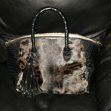Pre-owned Authentic Nancy Gonzalez Pony Hair Crocodile  Bag