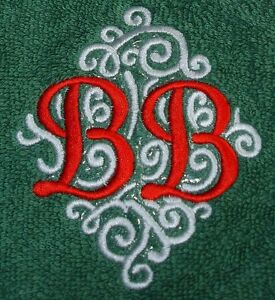 Personalised embroidered  monogrammed towel sets